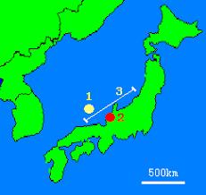 「1997年 - ナホトカ号重油流出事故地図」の画像検索結果