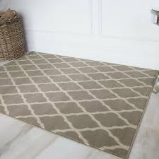 soft touch grey brown taupe classic grey trellis geometric print moroccan rug uk