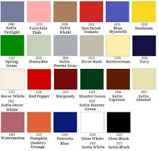 Krylon Color Chart Krylon Fusion For Plastic Gloss Spray