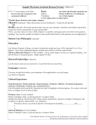 Physician Assistant Resume Template Impressive Curriculum Vitae Template Medical Student From Physician Resume