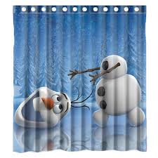Custom Movie Anime Carton Olaf <b>Waterproof</b> Polyester Fabric ...