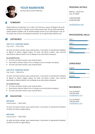 Resume Template Professional Extraordinary Gastown Resume Blue Free Professional Resume Template