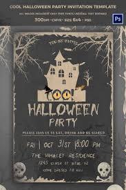 Halloween Party Invitation Template Downloads Arames Info