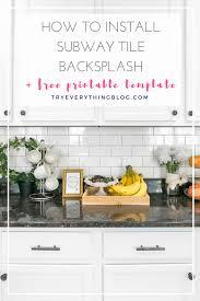 subway tile backsplash 2. How To Install A Subway Tile Backsplash (+FREE Template) 2 C