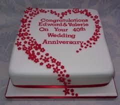 Ruby Wedding Cakes Designs Wedding Cake Ru Wedding Anniversary Cake