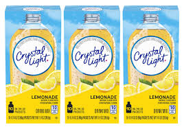Crystal Light On The Go Natural Lemonade 10 Count Packets