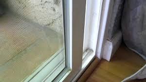sliding glass door security bar frameless