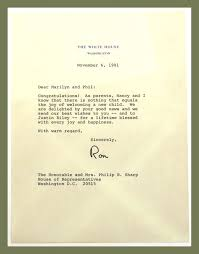 Congratulations Letter New TLS Letter Of Congratulation Ronald Reagan