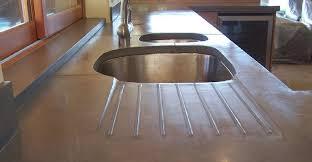 dark grey drain board concrete countertops concrete interiors martinez ca