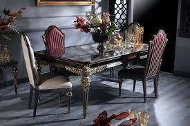 Casa Padrino Luxus Barock Esszimmer Set Esstisch Und 4 Esszimmerstühle Esszimmermöbel Im Barockstil