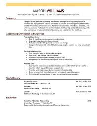 Accounting Resume Template 16 Amazing Accounting Finance Resume
