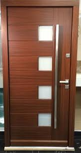 Simple Modern Residential Front Doors Meranti Wood Entry Door In Stock Inquire Throughout Decor