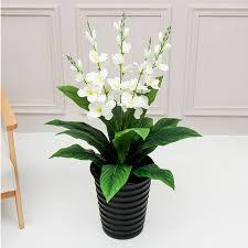 90 см большой <b>искусственный тропический цветок</b> в горшке ...