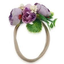 children hair accessories simulation flower headbands diy handmade girls nylon headbands wedding bride beach headwear