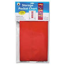 Carson Dellosa Scheduling Pocket Chart Dellosa Publishing Storage Pocket Chart With 10 13 1 2 X 7