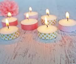 Diy Tea Light Candle Holders Washi Tape Tea Light Candles Popsugar Smart Living