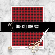 Free Printable Christmas Paper Designs Buffalo Plaid Free Printable Patterned Paper Christmas