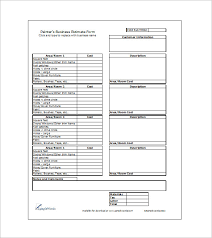 free estimate template download 16 sample estimate templates doc pdf excel free premium