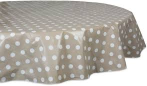 waterproof spill proof vinyl polka dot round tablecloth 70 perfect for all season indoor outdoor picnics potlucks party party or everyday