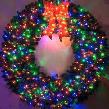 Outdoor Lighted Wreath Mesmerizing Battery Lights For Wreaths Operated Outdoor Lighted Outdoors St