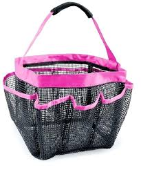 travel shower cads mesh portable quick dry lightweight 7 bathroom shower tote for shampoo conditioner soap