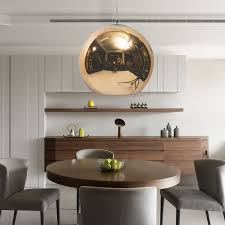 sizes glass mirror ball ceiling pendant light modern tom dixon