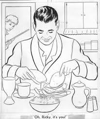 I Love Lucy Coloring Book Art