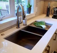 undermount sink with drainboard kitchen contemporary with air switch brushed stainless image by christine austin design