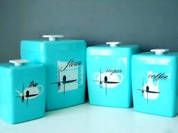 fancy vintage kitchen canisters set l1428601 vintage tin kitchen canister sets