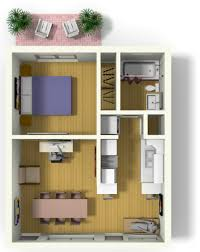 small floor plans. Small Apartment Design For Live/Work: 3D Floor Plan And Tour Plans R