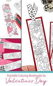 No animal represents the feeling of valentine's day more than the lovebirds. Sweet Valentine Heart Bookmarks To Print And Color Carla Schauer Designs