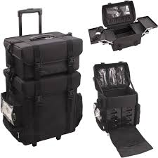 soft sided nylon makeup soft rolling case with drawers nt5015 nylon trolley makeup case carre