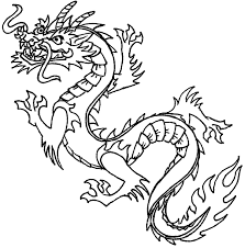 Chinese New Year Dragon Clipart Black