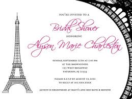 Bridal Shower Invitation Templates Adorable Paris Invitations Templates Free Bridal Shower Invitations Amusing