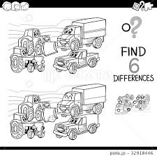 Spot The Difference With Cars Coloring Bookのイラスト素材 32918446