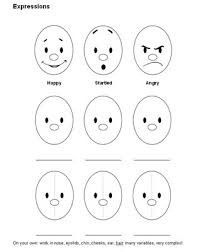 Small Picture facial expressions for preschooler facial expression Colouring