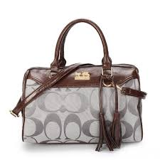 Coach Legacy Haley Medium Grey Satchels BAX