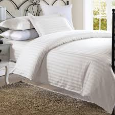 china 300t white 100 cotton satin stripe bedding sets bed linen for star hotel china bedding set hotel bedding