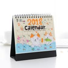 2018 cartoon animal calendar desk desktop flip stand