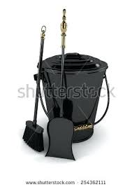 fireplace ash container and shovel can dump door home depot