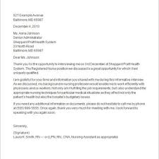 Sample Thank You Note After Faculty Job Interview Cover Letter
