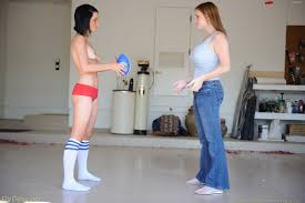 Jamee playing naked football with danielle Dansmovies