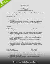 Breathtaking Cna Resume Templates Examples Skills Pdf Sample No
