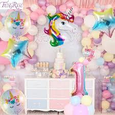 <b>FengRise 45x45cm Unicorn</b> כרית כיסוי <b>Unicorn</b> המפלגה קישוט DIY ...