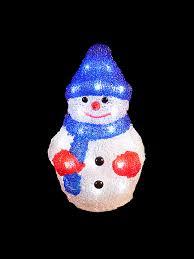 light up acrylic santa snowman reindeer outdoor