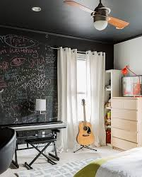 View in gallery Express yourself with a chalkboard paint wall in the  bedroom [Design: Annie Hall Interiors