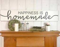 Kitchen wood sign | Happiness is homemade | rustic wood sign | kitchen wall  decor |