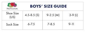 Fotl Boys Socks Size Chart Album On Imgur