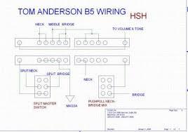 accordo b5 wiring tom anderson b5 wiring le info sono sul sito linkato tra le risorse assieme allo schema a grandezza originale si può adattare a chitarre con tre pickups hsh hss