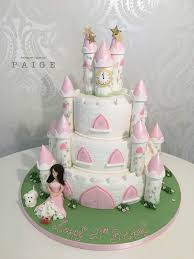 Pink Princess Castle Cake Designer Cakes By Paige